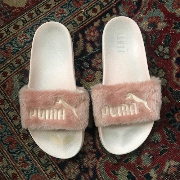 puma fur slides